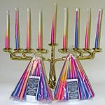 MENORAH CANDLE HOLDER  AND CANDLES