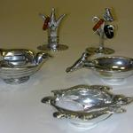 PEWTER SALT CELLARS AND RING HOLDERS MADE IN CANADA