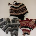 GLITTENS (GLOVE/MITTEN COMBO) AND HATS FLEECE LINED WOOL- WARMTH WITHOUT THE ITCH. FAIR TRADE MADE IN NEPAL